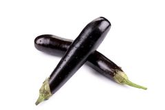 Bunch of large eggplants. Stock Images