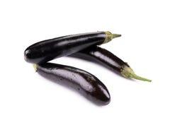 Bunch of large eggplants. Royalty Free Stock Photo