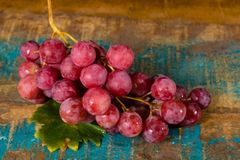 Bunch of large organic table grapes Red Globe Royalty Free Stock Photography