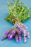 Bunch of lavender flowers on a table Stock Photography