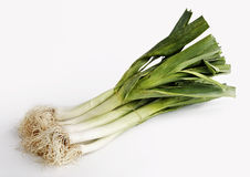 A bunch of leeks Royalty Free Stock Image