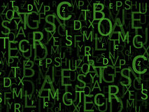 Bunch of letters Stock Image