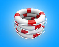 A bunch life buoy Stock Images