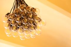 A bunch of light bulbs. Royalty Free Stock Image