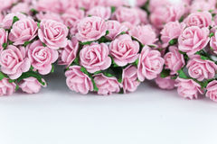 Bunch of light magenta roses for background Stock Images