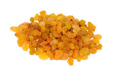 A bunch of light raisins. A pile of light raisins isolated Stock Images