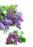 Bunch of Lilac in jar close up Stock Photo