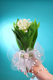 Bunch of lily of the valley for the first holy  communion Royalty Free Stock Photos