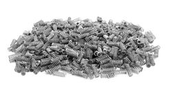 Bunch of little metal springs Royalty Free Stock Image