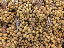 Bunch of Longan. On the market place Stock Image