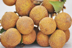 Bunch of longan. In Thailand stock photography