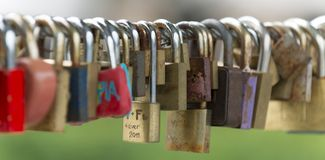 Bunch of love locks Stock Image