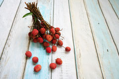 Bunch of lychee Royalty Free Stock Photography