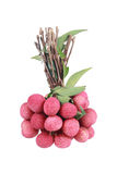 bunch of lychees isolated on white Royalty Free Stock Photo