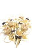Bunch of macaroni, spaghetti, pastes  on a white background Stock Photo