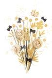 Bunch of macaroni, spaghetti, pastes  on a white background Royalty Free Stock Photos