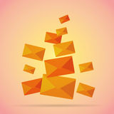 Bunch of Mails. Vector illustration of the whole bunch of mails Royalty Free Stock Photography