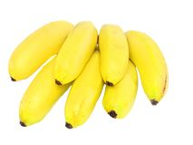 Bunch of mini-bananas .Isolated Stock Image