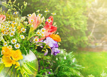 Bunch of mix summer flowers wiht daisies Royalty Free Stock Photography