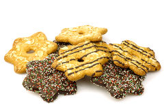 Bunch of mixed colorful christmas cookies Royalty Free Stock Photo
