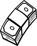 bunch of money bills vector illustration Stock Images