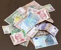 Bunch of money Stock Photo