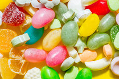 Bunch of multi-colored candy Stock Photo