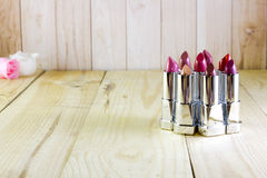 A bunch of multi-colored lipsticks Stock Images