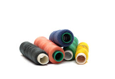 A bunch of multi-colored threads Stock Images