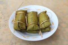 A bunch of mush on dish. A bunch of mush on dish, Thai dessert Royalty Free Stock Photo