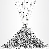 Bunch of music notes Royalty Free Stock Photography