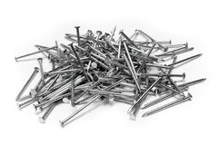 Bunch of Nails. Nails against white background Stock Image