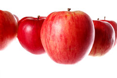 Bunch of natural healthy tasty fresh red apples Royalty Free Stock Image