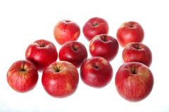 Bunch of natural healthy tasty fresh red apples isolated Stock Photography