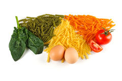 Bunch of naturally colored pasta Royalty Free Stock Photos