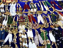 Bunch of necklaces royalty free stock images