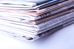 Bunch of Newspapers Royalty Free Stock Photo