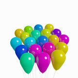 Bunch of Non-Transparent Balloons Royalty Free Stock Image