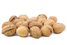 Bunch of nuts. On white background Stock Images