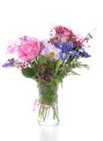 Bunch Of Flowers In Vase, Isolated Stock Photos