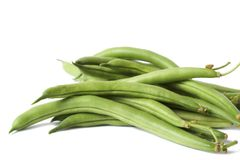 Bunch Of Green Beans Isolated On White Royalty Free Stock Image