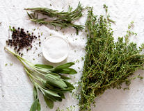 Free Bunch Of Herbs For Cooking Royalty Free Stock Images - 28196309