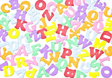 Bunch Of Tiny Letters Royalty Free Stock Image