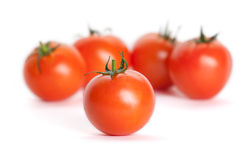Free Bunch Of Tomatoes Isolated On White Royalty Free Stock Image - 25203566