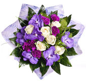 Bunch Of Violet Flowrs Stock Photography