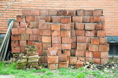 A bunch of old brick masonry Royalty Free Stock Photos
