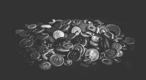 A bunch of old buttons Royalty Free Stock Images