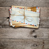 Bunch of old envelopes Stock Photos