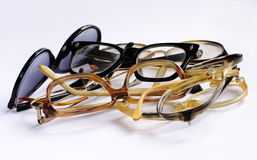 Bunch of old glasses Stock Photo