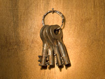 Bunch of old keys. Royalty Free Stock Photo